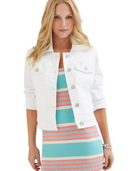 Tommy Bahama Afton Denim Jacket White Jackets