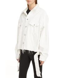 Balenciaga Cut Waistband Denim Jacket