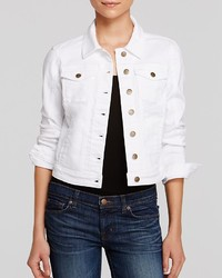 GUESS Denim Jacket Classic Cropped White