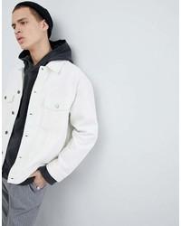 Mennace Denim Jacket In White