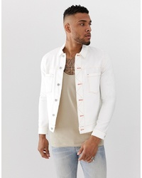 ASOS DESIGN Denim Jacket With Contrast Neon Stitch
