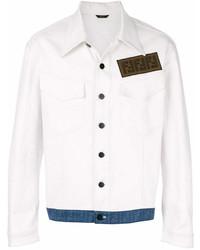 Fendi Ff Contrast Hem Denim Jacket