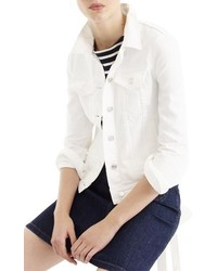 J crew white denim jacket medium 3731200