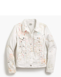 J.Crew Limited Edition Denim Jacket In Paint Splatter