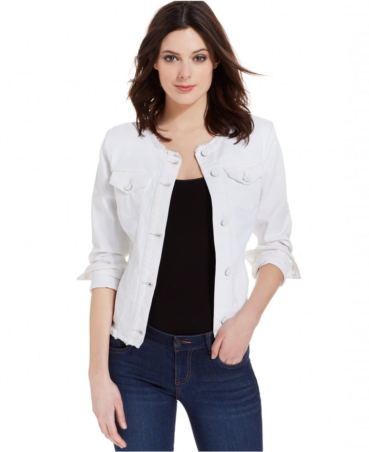 Calvin Klein Jeans Long Sleeve Denim Jacket | Where to buy & how ...