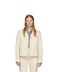 Lemaire Off White Denim Boxy Jacket