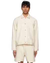 Kuro Off White Denim Loose Big Jacket