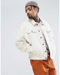 Asos Oversized Denim Jacket In Ecru