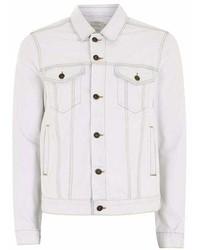 Topman White Bleach Wash Denim Jacket