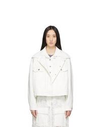 Sacai White Denim Double Layer Jacket