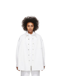 Alexander Wang White Denim Long Jacket Shirt