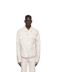 Maison Margiela White Denim Marble Wash Jacket