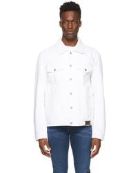Diesel White Denim Nhill C1 Jacket