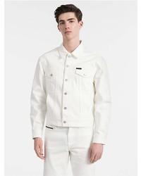 Calvin Klein White Denim Trucker Jacket