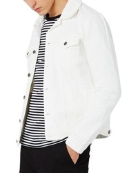 Topman White Denim Western Jacket