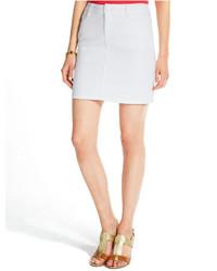 Tommy Hilfiger Denim Skirt Optic White Wash