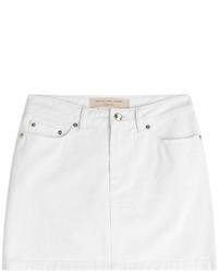 White Denim Mini Skirt for Women | Lookastic for Women
