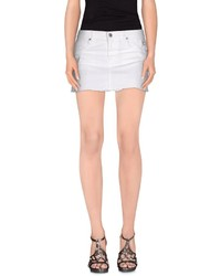 White Denim Mini Skirts for Women | Women's Fashion