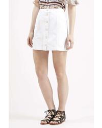 A Line White Skirt