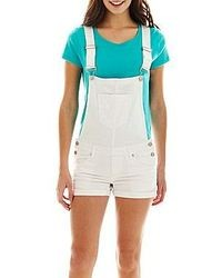 Blue Spice White Short Overalls