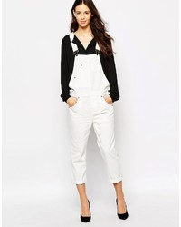 Esprit White Denim Overall