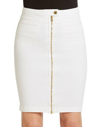 7 For All Mankind Front Zip Denim Pencil Skirt