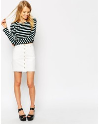 White Denim Jean Skirt | Bbg Clothing