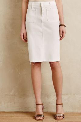 Mother Denim Pencil Skirt White 29 Skirts | Where to buy & how to wear
