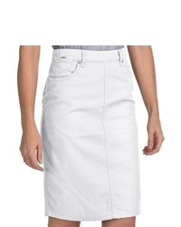 FDJ French Dressing Jean Skirt Stretch Denim White