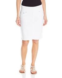 Jag Jeans Eloise White Denim Pull On Skirt