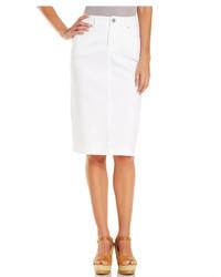 Style&co. Style Co Tummy Control Denim Skirt Bright White Wash