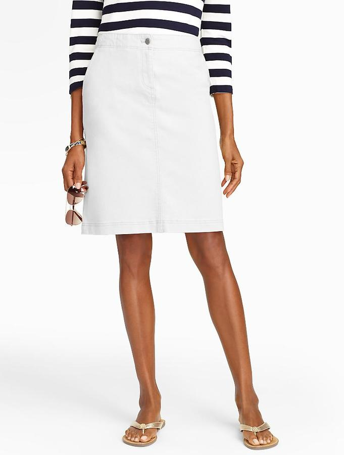 A Line White Denim Skirt | Jill Dress
