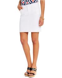 Tommy Hilfiger 5 Pocket White Denim Skirt