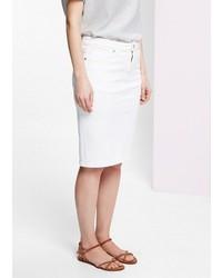 Violeta BY MANGO White Denim Skirt