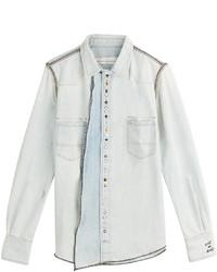 Golden Goose Deluxe Brand Embellished Denim Shirt