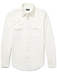 Tom Ford Slim Fit Denim Western Shirt