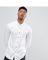 d82aa08ba7 ... Denim Shirt Out of stock · ASOS DESIGN Tall Regular Fit Western Viscose  Shirt In White With Black Poppers