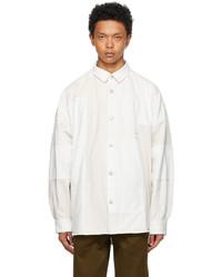 Ambush White Denim Patchwork Shirt