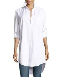 Frank And Eileen Frank Eileen Mary Denim Tunic Shirtdress White