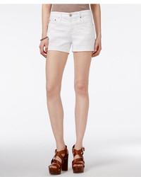 AG Jeans Ag Cuffed White Wash Denim Shorts