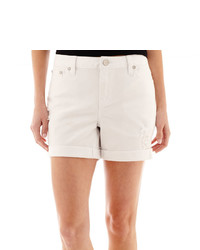 jcpenney Ana Ana Denim Roll Cuff Boyfriend Shorts Tall