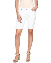 Chiqle White Denim Shorts
