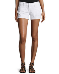 Hudson Croxley Rolled Cuff Denim Shorts White