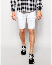Antioch Denim Shorts With Distressing