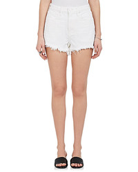 Denim X Alexander Wang Bite Distressed Denim Cutoff Shorts