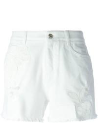 Ermanno Scervino Embroidered Denim Shorts