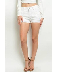 Hart Denim White Distressed Shorts