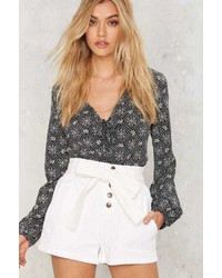 Factory Odessa High Waisted Denim Shorts
