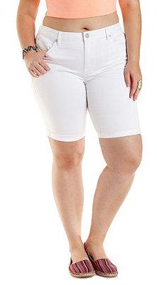 1ca2179c90 Charlotte Russe Plus Size Refuge Bermuda White Denim Shorts, $29 ...