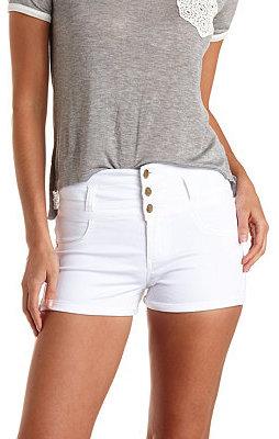0946f441a2 Charlotte Russe Refuge Hi Waist Shortie Colored Denim Shorts, $24 ...
